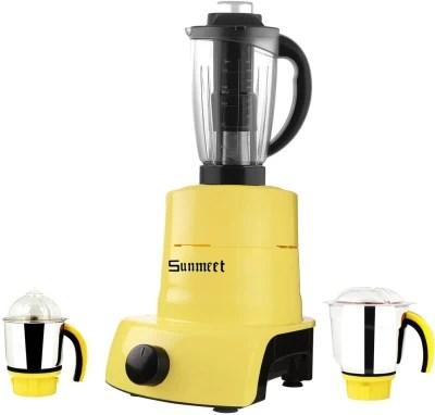 Sunmeet ABS Plastic YPMA17_494 1000 W Juicer Mixer Grinder(Yellow, 3 Jars)
