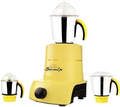 Su-mix ABS Plastic YPMA17_430 600 W Mixer Grinder(Yellow, 3 Jars)