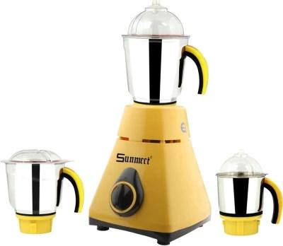 Sunmeet New_MG16-431MA 750 W Mixer Grinder(Yellow, 3 Jars)