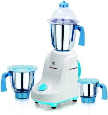Viaan Classic 750W Mixer Grinder with 3 Stainless Steel Jars 750 W Mixer Grinder(WhiteIIBlue, 3 Jars)