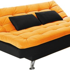 Orange And Black Sofa Bed Fabric Pics Furny Supersoft Double Solid Wood Finish Color Mechanism Type Fold Out