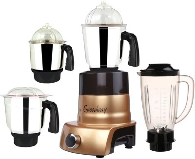 speedway MA ABS Body MGJ WOF 2017-203 750 W Juicer Mixer Grinder(Gold, 4 Jars)
