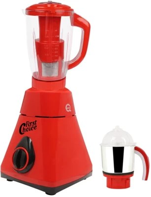 First Choice Latest Jar attachments of chutney & juicer jarType-78 600 W Juicer Mixer Grinder(Multicolor, 2 Jars)