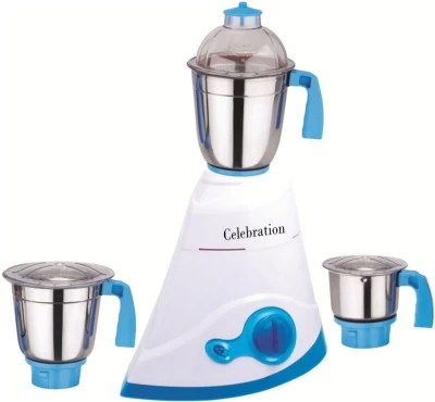 Celebration C MG16 128 1000 W Mixer Grinder(White, 3 Jars)