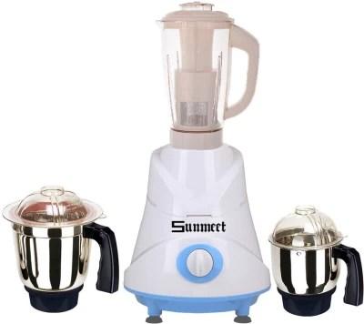 Sunmeet Latest Jar attachments of chutney medium & juicer jarType-768 750 W Juicer Mixer Grinder(Multicolor, 3 Jars)