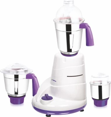 Frito 1511 600 W Mixer Grinder(White & Purple, 3 Jars)