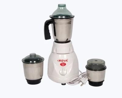 Nova N120 500 W Mixer Grinder(White, 3 Jars)