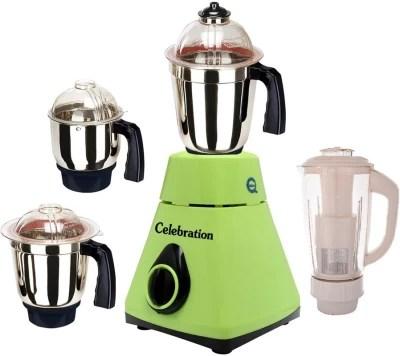 Celebration MG16-168 1000 W Mixer Grinder(Green, 4 Jars)