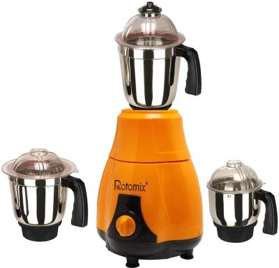Rotomix MG16-317 600 W Mixer Grinder(Orange, 3 Jars)
