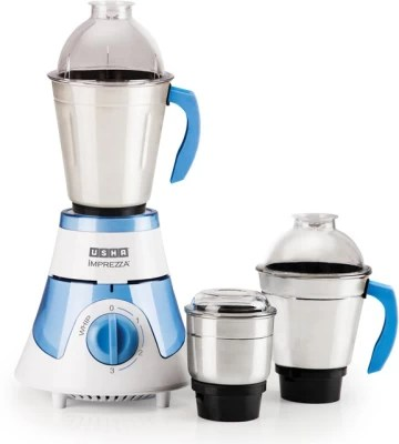 Usha Imprezza 3563 600 W Mixer Grinder(Blue, 3 Jars)