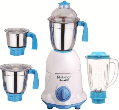 Rotomix ABS Body MG16-WFJ1 600 W Juicer Mixer Grinder(Multicolor, 4 Jars)