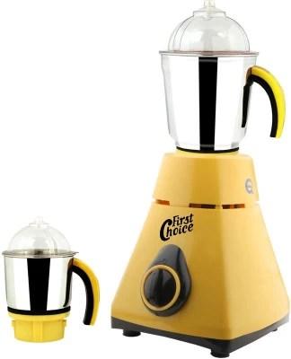 First Choice MG16-239 600 W Mixer Grinder(Yellow, 2 Jars)