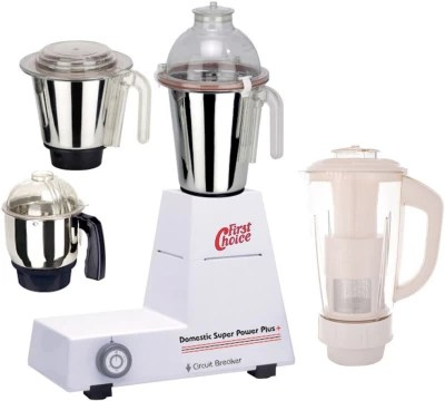 First Choice FC-MG16 143 1000 W Mixer Grinder(White, 4 Jars)