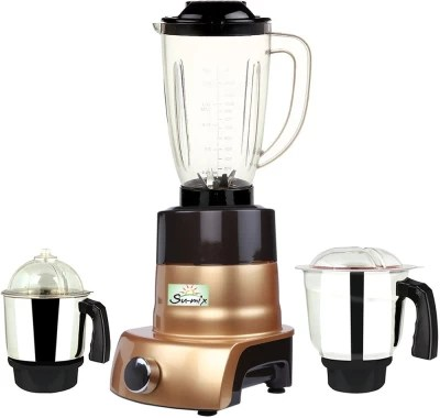 Su-Mix MA ABS Body MGJ WOF 2017-170 750 W Juicer Mixer Grinder(Gold, 3 Jars)