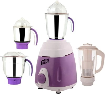 First Choice MG16-262 600 W Mixer Grinder(Purple, 4 Jars)