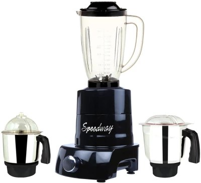 speedway MA ABS Body MGJ WOF 2017-99 750 W Juicer Mixer Grinder(Black, 3 Jars)