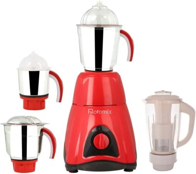Rotomix RTM-MG16 94 750 W Mixer Grinder(Red, 4 Jars)