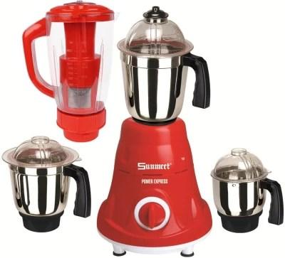 Sunmeet MG16-603 600 W Juicer Mixer Grinder(Red, 4 Jars)