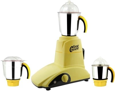 First Choice MG16-209 1000 W Mixer Grinder(Yellow, 3 Jars)