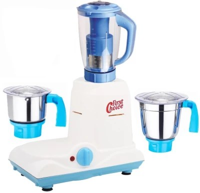 First Choice Latest Jar attachments of chutney medium & juicer jarType-488 1000 W Juicer Mixer Grinder(Multicolor, 3 Jars)