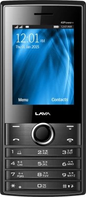 Lava KKT 40 Power Plus(Black & Grey)
