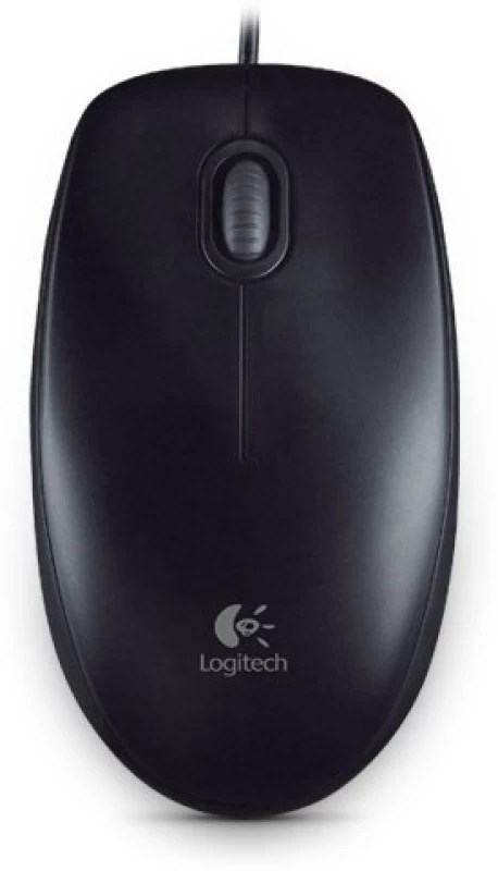 Logitech B100 Wired Optical Mouse(USB, Black)