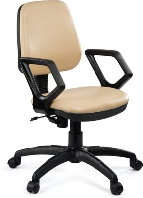 revolving chair thames balance ball reviews buy debono omega 502v medium back with push mechanism in beige leatherite leatherette office at best price india
