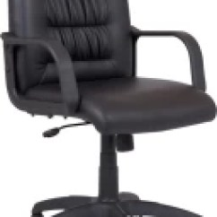 Chair Revolving Steel Base With Wheels Steelcase Task Manual Mbtc Office 999 Rs Durian Regal 5002 Mb Leatherette Black