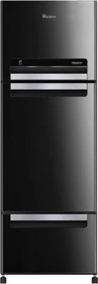 Whirlpool 300 L Frost Free Triple Door Refrigerator(FP 313D PROTTON ROY, Mirror Black)