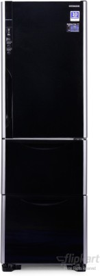 Hitachi 390 L Frost Free Triple Door Refrigerator(R-SG37BPND, Glass Black, 2016)