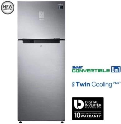 SAMSUNG 476 L Frost Free Double Door Refrigerator(RT49K6758S9, Refined Inox)