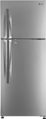 LG 308 L Frost Free Double Door Refrigerator(GL-T322RPZM, Shiny Steel, 2016)