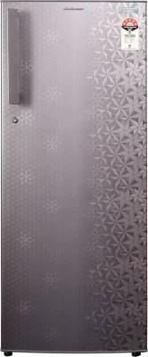 Kelvinator 245 L Direct Cool Single Door Refrigerator(KO255PTYG, Geometry Grey)