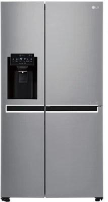 LG 668 L Frost Free Side by Side Refrigerator(GC-L247SLUV, Shiny Steel/Platinum Silver/VCM-Platinum Silver)