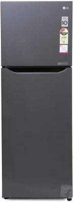 LG 255 L Frost Free Double Door Refrigerator(GL-Q282STNM, Titanium, 2016)
