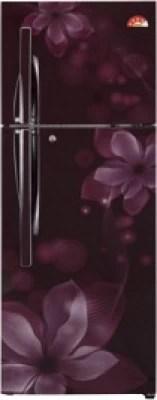 LG 284 L Frost Free Double Door Refrigerator(GL-U302JSOL, Scarlet Orchid)