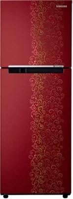 SAMSUNG 253 L Frost Free Double Door Refrigerator(RT28K3022RJ/HL, Royal Tendril Red)