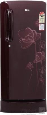 LG 190 L Direct Cool Single Door Refrigerator(GL-D201ASHL, Scarlet Heart, 2016)