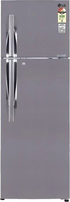 LG 335 L Frost Free Double Door Refrigerator(GL-D372JPZL, Shiny Steel)