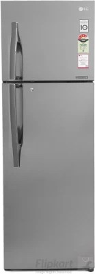 LG 360 L Frost Free Double Door Refrigerator(GL-U402JPZL, Shiny Steel, 2016)