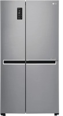 LG 687 L Frost Free Side by Side Refrigerator(GC-B247SLUV, Shiny Steel/Platinum Silver/VCM-Platinum Silver, 2016)