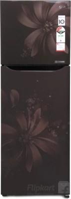 LG 255 L Frost Free Double Door Refrigerator(GL-Q282SHAM, Hazel Aster, 2016)