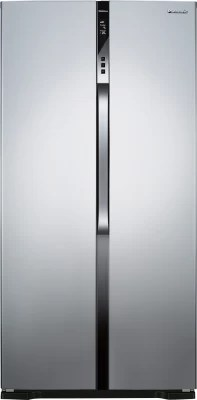 Panasonic 630 L Frost Free Side by Side Refrigerator(NR-BS63VSX2, Silver, 2016)