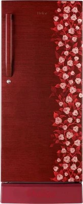 Haier 195 L Direct Cool Single Door Refrigerator(HRD-2157PRI-R, Red Floral)