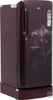 LG 190 L Direct Cool Single Door Refrigerator(GL-D201ASLN, Scarlet Lily, 2016)