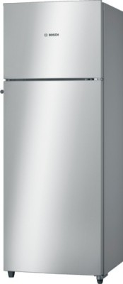 Bosch 347 L Frost Free Double Door Refrigerator(KDN43VS20I, Silver)