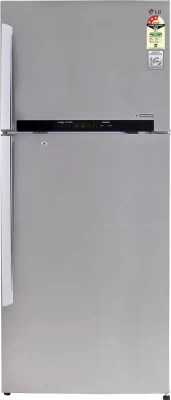 LG 420 L Frost Free Double Door Refrigerator(GL-M472GNSL, Noble Steel)
