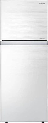 SAMSUNG 393 L Frost Free Double Door Refrigerator(RT39HAUDE1J/TL, Shiny River White Glass)