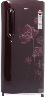 LG 190 L Direct Cool Single Door Refrigerator(GL-B201ASHP, Scarlet Heart, 2016)