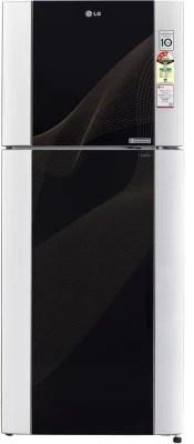 LG 407 L Frost Free Double Door Refrigerator(GL-M442TKRL, Karim Black)